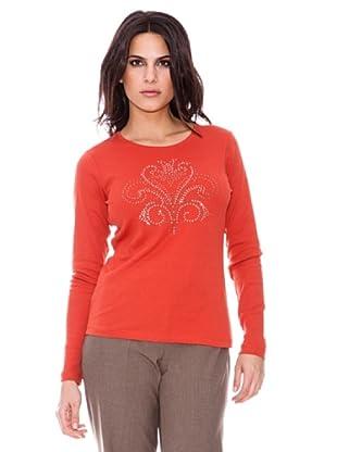 Steilmann Camiseta Aplicación Brillo (Rojo)