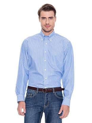 Brooks Brothers Camisa Vestir Oliver (Azul Marino / Blanco)