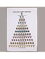 Holiday Flour Sack Kitchen Tea Towel A New York Lover's Christmas