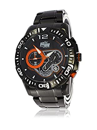 Pit Lane Uhr mit Miyota Uhrwerk Pl-1013-2 schwarz 45 mm