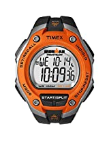 "Timex Men's T5K529 ""Ironman Traditional"" Black and Orange 30-Lap Sport Watch"