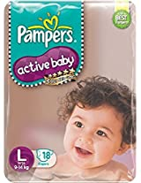 Pampers Active Baby Diapers Meant For 9 - 24 Months Infants (Pack of 18)