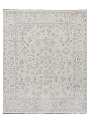 eCarpet Gallery One-of-a-Kind Hand-Knotted Royal Ushak Rug, Cream, 8' x 9' 8