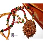 TRADITIONAL AND MEENA- DESIGNER TEMPLE NECKLACE