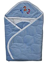 Quick Dry Baby Wrapper Hooded (Sky Blue)