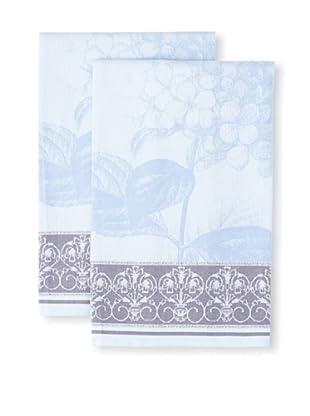 Garnier-Thiebaut Set of 2 Hortensia Bleu Kitchen Towels