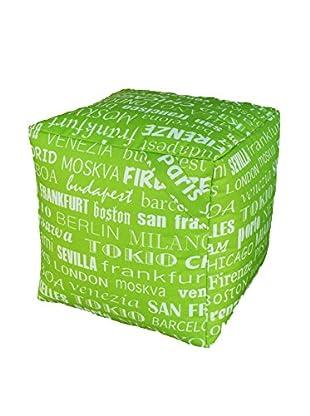 13 Casa Pouf grün 40 x 40 x 40 cm
