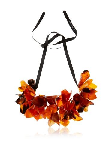 MARNI Women's Indian Orange Beaded Cone Necklace