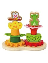 Hape Early Explorer Garden Gear Stacker, Multi Color