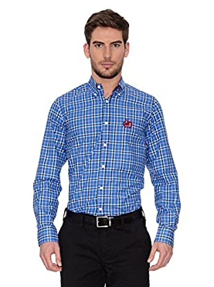 Polo Club Camisa Hombre Checks (Azul Royal / Rojo)