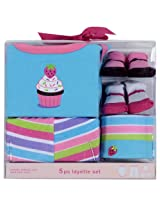 Luvable Friends 5pcs layette set - Blue & Pink Assorted