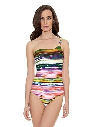 Cortefiel Bañador Asimetr Tie Die Shape (Multicolor)