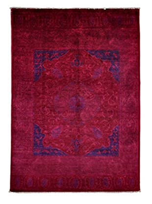 Darya Rugs Modern One-of-a-Kind Rug, Dark Violet, 8' 6