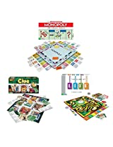 Winning Moves Gamepack7 Classic Game Pack Monopoly The Game Of Life And Clue