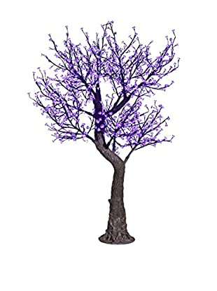 LED Clear Cherry Blossom Tree, Purple Bulbs