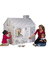 Single Piece Playhouse Folds Up & Down Easily House Cottage