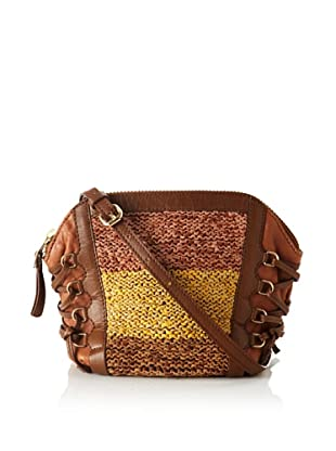Olivia Harris Women's Columbier Laced Woven Shoulder Bag (Toffee Multi)