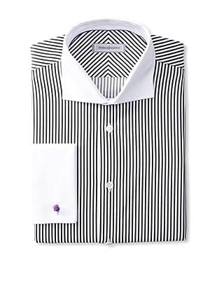 Without Prejudice Men's Striped Shirt (Black)