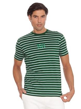 PEDRO DEL HIERRO Camiseta Rayas (Verde / Blanco)