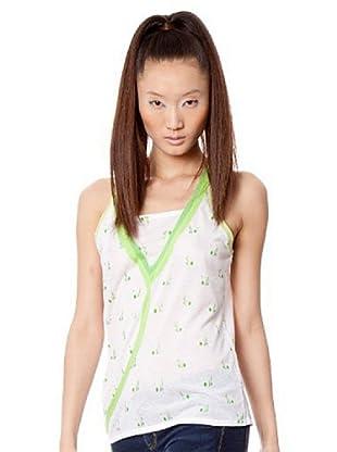 Custo Camiseta (Blanco / Verde)