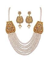 Variation Multi String Pearl Grand Jewellery Set For Women