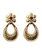Dhwani Creation Drop Alloy Earrings For Girls and Women (Maroon)