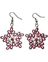 Designer's Collection Paper Quilling Festive Collection Ear Rings for Women-DSERF003