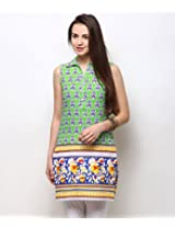 Yepme Women's Multi-Coloured Cotton Ethnicwear - YPMKURT1222_S