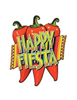 Beistle 55630 24-Pack Happy Fiesta Cutouts, 17-Inch