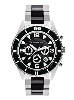 K&BROS 9136-1 / Reloj Unisex  con brazalete metálico Negro