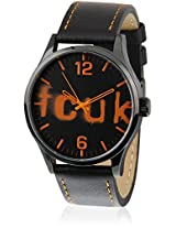 Fc1096Oolgj Orange/Black Analog Watch FCUK