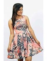 Londonhouze Womens Synthetic A-Line Dress (Lhj1001S _Coral _Medium)