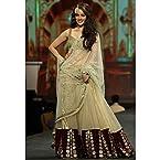 Vidya Malvade Cream Net Satin Designer Lehenga Choli 2148