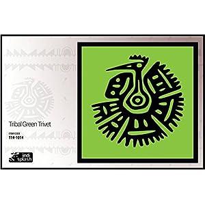 Indispash Tribal Green Trivet