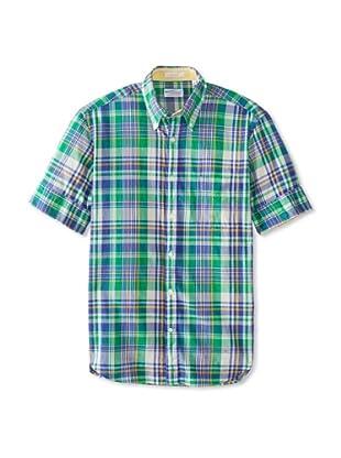 GANT Rugger Men's India Madras Original Button-Up Shirt (Persian Blue)