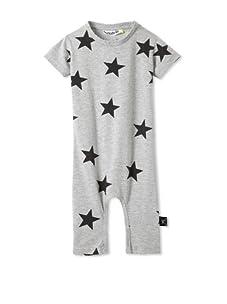 NUNUNU Baby Star Play Suit (Heather Grey)