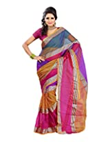Kajal Synthetic Saree (63D _Multi-Coloured)