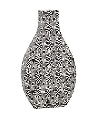 Reagan Large Pattern Vase, Black/White