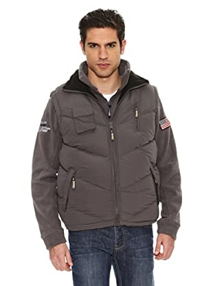 Geographical Norway Chaleco Vagon New (Gris Oscuro / Negro)