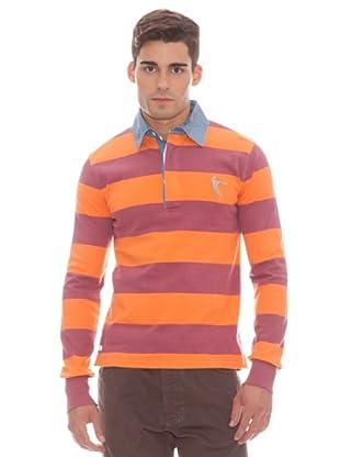 Gant Polo Rayas (naranja)