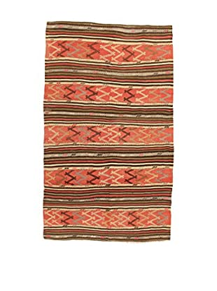 Design Community By Loomier Teppich Kilim Caucasico koralle/mehrfarbig 144 x 243 cm