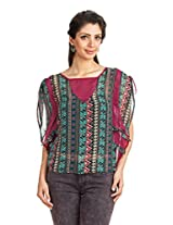 Zovi Womens Polyester Long Sleeve Top ,Multi-Coloured ,Large