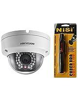 Hikvision 1.3MP Network IR Dome Camera (4mm Lens) + Nisi Pro LensPen Lens Cleaner