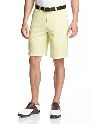 PGA Tour Men's Flat Front Seersucker Gingham Short (Limeade)