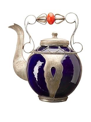 Badia Design Decorative Ceramic Teapot, Blue