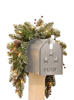National Tree Company 3' Glittery Mountain Spruce Mailbox Swag