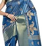 Multi Printed Mysore Polycotton Sari Saree With blouse piece