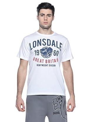 Lonsdale Camiseta Básica Logotipo (Blanco)