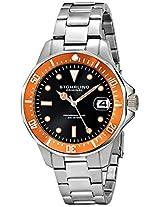 Stuhrling Original Aquadiver Analog Black Dial Men's Watch - 664.04