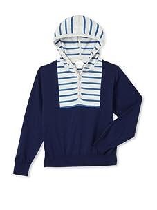 kicokids Boy's Sailor Stripe Hooded Henley (Ettiene)